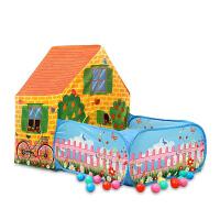 儿童帐篷室内外玩具游戏屋海洋球池公主宝宝大房子家用花园