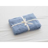 无印单件床单被人床笠双人床上用品良品 米兰色 针织棉