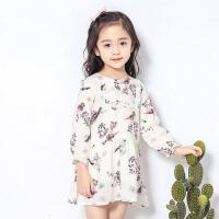 2017新款韩版儿童公主裙 女童春装连衣裙长袖中小童春秋小女孩裙子 白 色