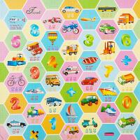 卡通泡沫地垫宝宝拼接爬行垫儿童爬爬垫拼图早教字母彩印地垫 60X60X1.2cm(