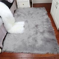 加厚长毛绒地毯卧室客厅床边满铺地毯飘窗垫现代简约毛绒橱窗定做SN6056 浅灰色 长毛绒(直角)