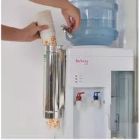 一次性纸杯自动取杯器饮水机纸杯架取杯器放一次性杯子塑料落杯器 加厚水杯架