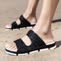 新款男士拖鞋潮流夏季沙滩凉拖鞋软底外穿一字拖夏天凉鞋
