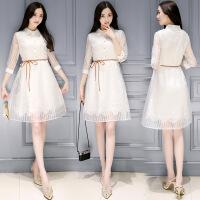 年春季连衣裙清新韩版潮流简约修身显瘦气质可爱街头唯美