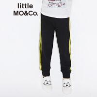 littlemoco男女童松紧腰杠条针织休闲长裤KA173PAT302