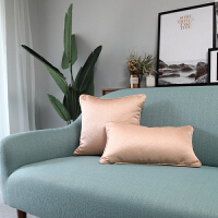 现代简约新中式美式欧式抱枕金色黄色亮面沙发靠垫样板房装饰靠枕T