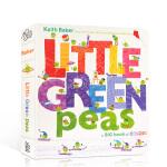 顺丰发货 英文原版进口绘本 Little Green Peas 小绿豆 住在字母表里的小豆子 低幼儿童早教单词益智学前