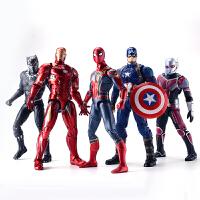 中动正版复仇者联盟漫威钢铁侠可动人偶手办模型美国队长蜘蛛侠
