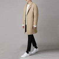 秋冬新款韩版男士呢大衣 冬季中长款毛呢外套羊毛呢子大衣风衣男
