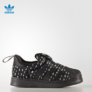 阿迪达斯(adidas)童鞋18新年款贝壳头男女儿童运动鞋BY9932 黑色