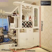 欧式客厅进门玄关柜隔断柜酒柜现代简约双面鞋柜屏风间厅装饰柜子 组装