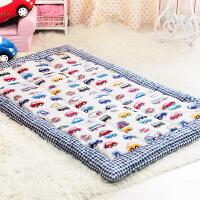 地垫儿童房毯子榻榻米垫子游戏地垫可爱宝宝毯子婴儿飘窗垫窗台垫 地垫罗马格卡丁车A 加厚款2 900MM×1500MM