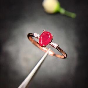 缅甸红宝石戒指,鸽血红,红宝石艳如烈火 4.6