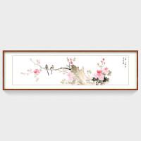 牡丹花国画纯手绘真迹花鸟画中式客厅装饰画卧室床头挂画横幅字画