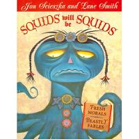 【5折封顶】凯迪克大奖 Lane Smith: 新寓言 Squids Will Be Squids平装