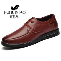 富贵鸟男鞋2017秋季男士休闲鞋男透气驾车休闲商务皮鞋正装 A791029棕色 43