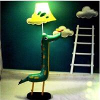 儿童台灯卡通落地灯动物灯可爱创意卧室床头灯布艺护眼小学生书桌