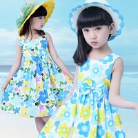 女童连衣裙夏装中大童裙子儿童碎花舞蹈裙演出服