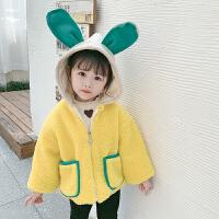 女宝宝冬装洋气女童儿童外套加绒棉衣童装