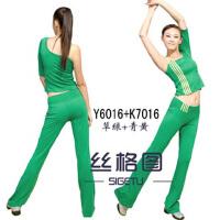 健身服 跳操服 健美操学生表演服装 春夏女套装 X