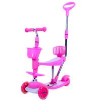 儿童滑板车四轮闪光宝宝学步车带音乐护围四合一儿童滑板车