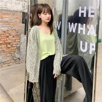七格格百褶阔腿裤女高腰垂感2020新款春季韩版宽松直筒黑色裤子潮