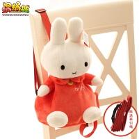 可爱卡通小兔子儿童书包幼儿园宝宝双肩背包女童1-3岁生日礼物