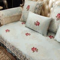 欧式沙发垫布艺四季通用防滑坐垫美式组合夏季全包套