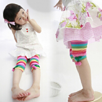 2草莓彩虹女童童装 宝宝儿童七分打底裤薄