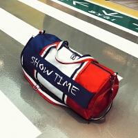 短途旅行包女手提单肩轻便旅游登机包大容量运动健身训练包行李包 图片色