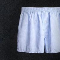 男士内裤平角裤阿罗裤纯棉宽松透气四角短裤青年睡裤居家