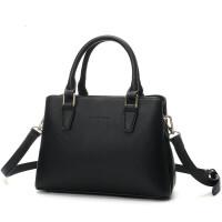 女包手提包新款包包女韩版百搭时尚潮简约单肩斜挎包 黑色