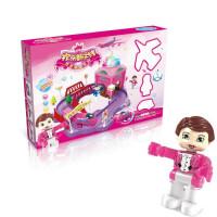 儿童立体拼插欢乐旋转木马轨道拼装玩具模型玩具积木轨道火车多层超大电动过山车男孩女孩礼物