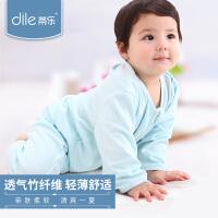 蒂乐春秋薄款婴儿分腿睡袋宝宝新生儿儿童防踢被竹纤维空调房睡袋