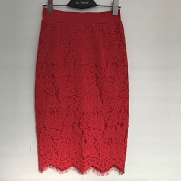 蕾丝半身裙 包臀裙高腰裙子女春秋中长款一步裙显瘦长裙