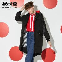 波司登(BOSIDENG)2017新款迪士尼系列宽松韩版中长款羽绒服女潮B70142166D