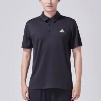 adidas阿迪达斯男子短袖POLO衫2018新款网球休闲运动服CV8322