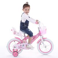 儿童自行车女童小孩童车女孩单车12/14/16寸2-3-5-6岁宝宝