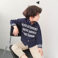男童长袖衬衣2018新款潮韩版春秋儿童条纹衬衫薄款春装个性3-4-5