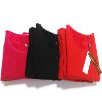 冰洁 秋冬新款女士纯色加绒加厚保暖内衣套装 女款塑身美体 大红色155/90XL