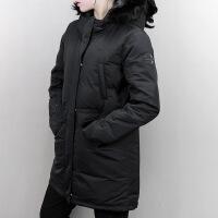 Adidas阿迪达斯 女子 长款连帽羽绒服 保暖运动外套 BP6512