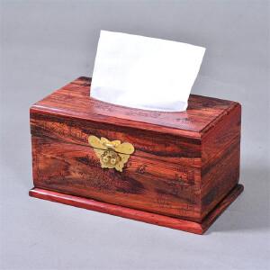 大红酸枝开盖纸巾盒 22.6 12.8 11.7