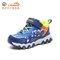 【618大促-每满100减50】CAMKIDS垦牧儿童鞋男童高帮登山鞋2017冬季新款户外运动鞋中小童