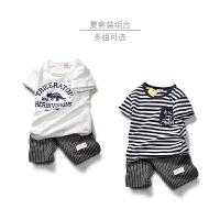 童装男童套装夏装中大童儿童短袖套装两件男孩套