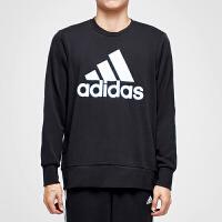 adidas阿迪达斯男子卫衣2018新款套头圆领休闲运动服CD6275