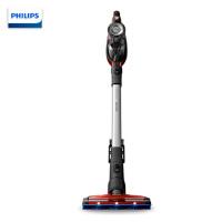 飞利浦(Philips) 吸尘器 家用手持无线充电立式车用二合一吸尘机大容量0.6尘桶 FC6823/81电光红-续航