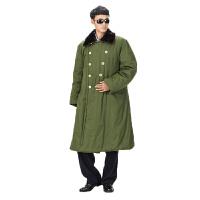 军大衣棉大衣 长款加厚军大衣冬季男防寒服保安值班棉大衣 军绿色 均码