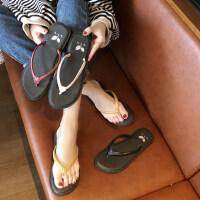 韩版百搭休闲平底可湿水沙滩凉拖鞋女人字拖鞋女夏季外穿