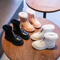 女童靴子秋冬新款女宝宝马丁小短靴中大童公主皮靴儿童棉靴鞋