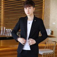 男士春季薄款西服男青年韩版修身型上衣服潮流休闲小西装帅气外套
